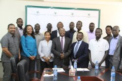 NCAC chairperson Mr. Gichira Kibara meets with members of the South Sudanese Network for Democracy and Elections (SSUNDE)